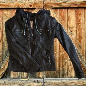 Women's Coalition Faux-Leather Centre Zip Jacket